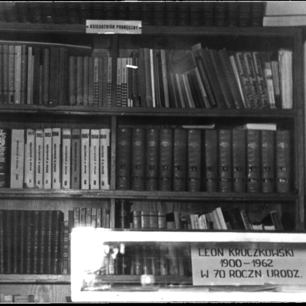 Księgozbiór podręczny w 1975 r.