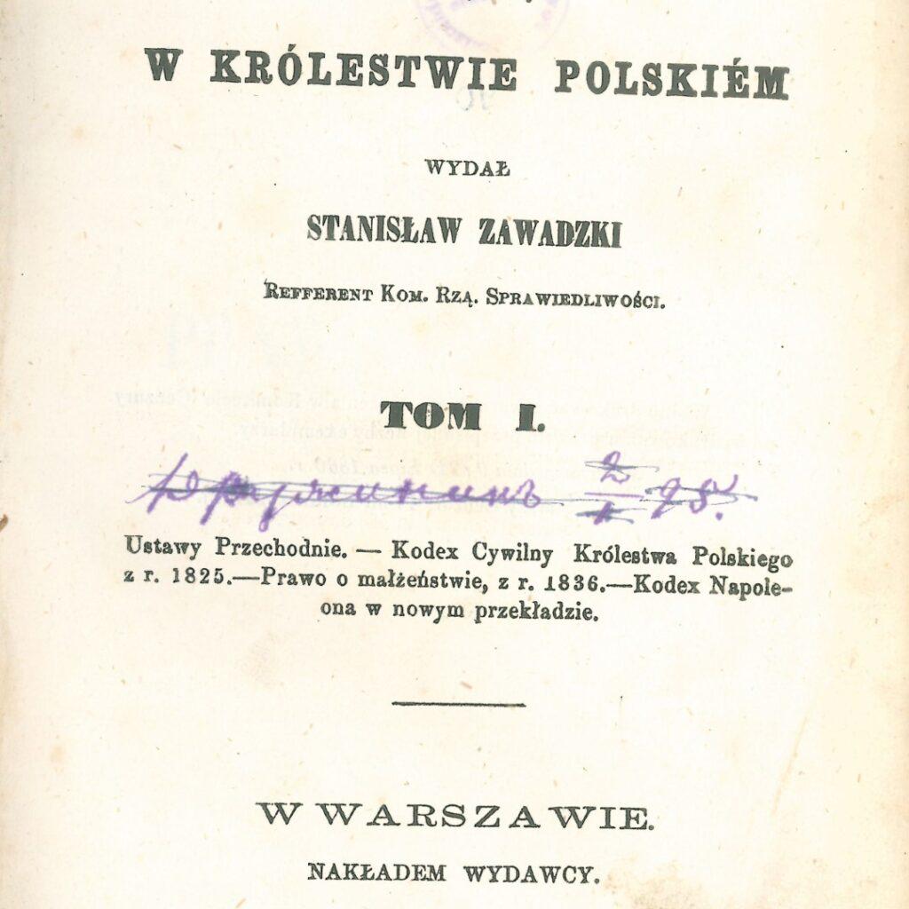 Najstarsza książka w naszej bibliotece z 1860r.